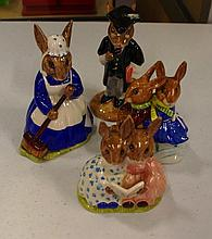 4 Royal Doulton Bunnykins Figurines Tallest