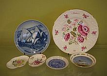 Four ceramic dishes & 2 plates including Royal