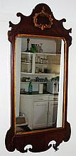 George III mahogany framed mirror 113cm high, 56cm