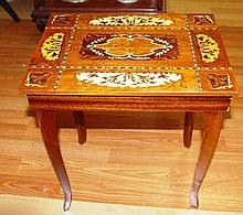 Italian inlaid music box 37cm x 27cm, 43cm h