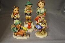 5 Various Hummel figures One as inspected