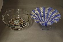 2 various Italian glass bowls