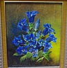 Robert Cox (working 1970s-80s) Blue Jentain Oil on