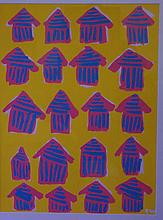Brian Wortzel (1967-) Peppermint Village Acrylic