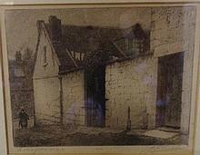 Joseph Christian Goodhart (1875-1952) etching