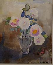 Margaret Coen (1913-1993) Camellias Watercolour.