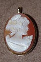 14ct gold cameo brooch / pendant