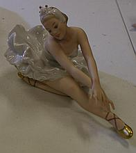 German porcelain ballerina Measures approximately