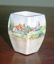 Royal Doulton earthenware miniature vase