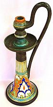Large vintage Gouda candlestick 42cm high