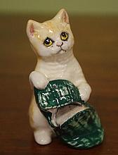 Royal Doulton cat  with slipper