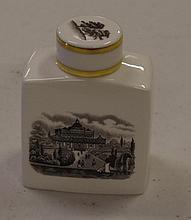 Royal Worcester lidded jar 8 cm tall.