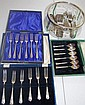 Three boxed sets of silver plated forks/spoons