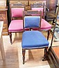 Three carved Edwardian dining chairs