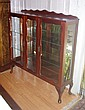 Vintage china cabinet mirror back with 2 internal