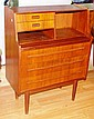 Small size retro teak finish desk 99cm height, 36