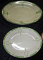 Two Art Deco Burleighware serving platters C:1930