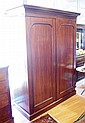 Victorian mahogany wardrobe with deep hanging