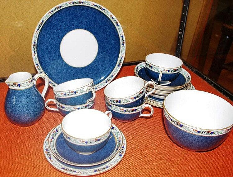 Royal Worcester part teaset as inspected