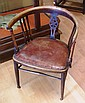 Antique mahogany tub chair 55cm wide, 74cm high