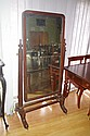 William IV mahogany cheval mirror 164cm high, 83cm