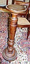 Vintage timber display pedestal 100.5cm high