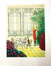 Alain Bonnec (France 1952 - ) limited edition lithograph 121/200, signed lo