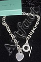 Silver chain and fob marked Tiffany