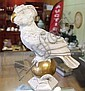 Vintage European porcelain figure of parrot & ball