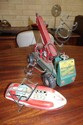 Two vintage tin toys Australian Wyntoy mobile