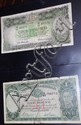 Two 1 pound & one 5 pound note (Aust) with an