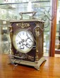 Antique French mantle clock with enamel dial and