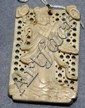 Carved Chinese pendant with lady figure