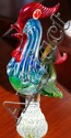 Murano Rooster with original sticker. Approx 27cm