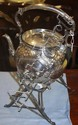 Antique Hardy Bros. Silver plated spirit kettle on