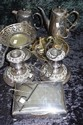 Quantity of vintage silver plated items including