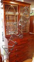 Good Mahogany William IV secretaire bookcase with