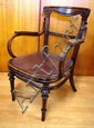 Antique salon chair 55cm wide, 79cm high