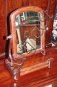 Antique mahogany toilet mirror with drawer, 39cm