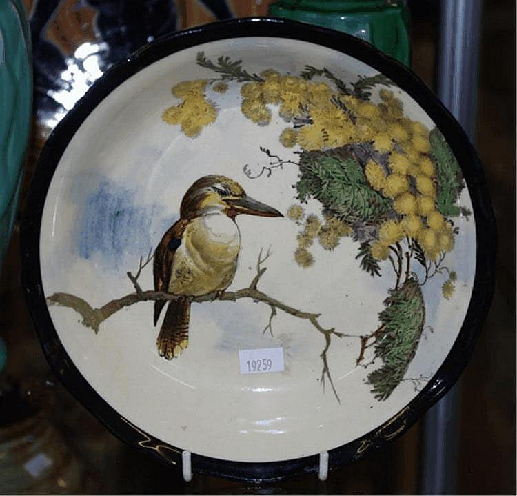 Royal Doulton bowl - Kookaburra & wattle C:1930
