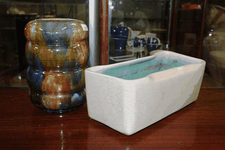 Two vintage signed Australian pottery vases