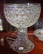 Very large two part crystal centre piece