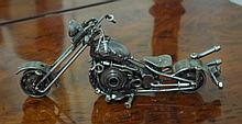 Metal art motorcycle 26.5cm long