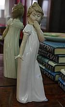 Nao porcelain figure of a girl in nightdress