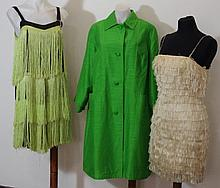 Two layered tassle dresses circa 1960s , in