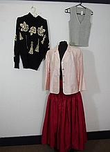 Vintage black and cream batwing knit by Escada