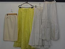 Three petty coats too include 2 white 1 yellow