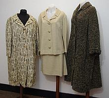 Two vintage woolen coats one with a Aquascutum