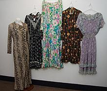 Group of five mixed dresses to including Diane