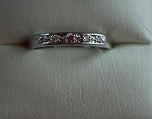 18ct white gold & pink Aust. Argyle diamond ring